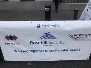 StadiumTM stand at the UK Security Expo 2017 event